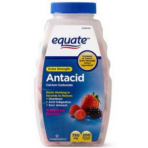 Viên nhai điều trị đau bao tử Equate Extra Strength Antacid Calcium Mỹ