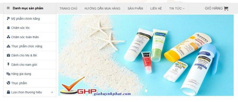 hướng dẫn mua hàng danh mục sản phẩm chính hãng giahuynhphat.com