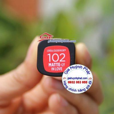 Son môi đỏ cam Loreal #102 hàng mỹ xách tay giahuynhphat.com