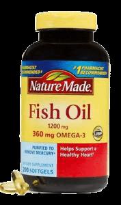 Dầu cá bổ mắt Omega 3 360mg Fish Oil 1200mg Nature Made 200v của mỹ giahuynhphat.com