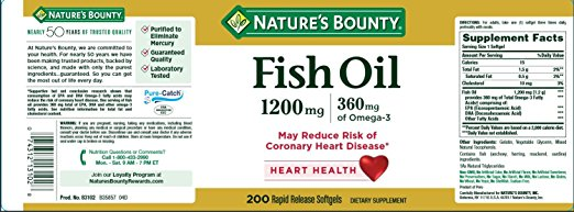 công dụng Dầu cá hỗ trợ tim mạch Fish Oil Omega 3 Nature Bounty 200v của Mỹ