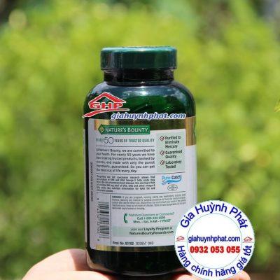 Dầu cá hỗ trợ tim mạch Fish Oil Omega 3 Nature Bounty 200v xách tay mỹ