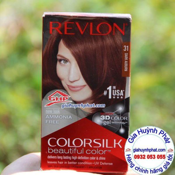 Thuốc nhuộm tóc Revlon colorsilk #31 hàng mỹ xách tay giahuynhphat.com