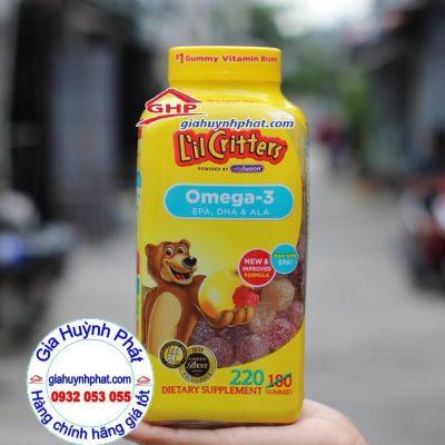 Kẹo dẻo bổ sung Omega 3 DHA L'il Critters Gummy thực phẩm chức năng Mỹ giahuynhphat.com