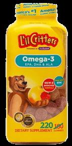 kẻo dẻo bổ sung omega 3 DHA L'il Critters Gummy của Mỹ tại giahuynhphat.com 5