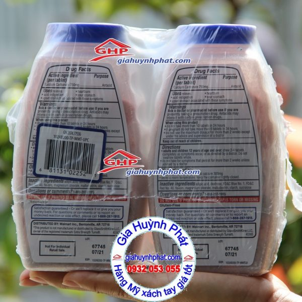 Thành phần Equate hương trái cây trị đau bao tử hàng Mỹ xách tay giahuynhphat.com