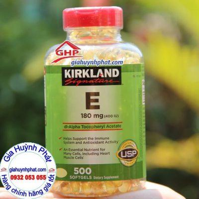 Viên uống bổ sung Vitamin E 400 IU Kirkland Signature 500v hàng mỹ xách tay giahuynhphat.com