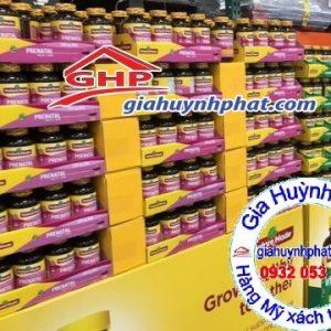 Viên uống Prenatal trưng bày tại siêu thị Mỹ giahuynhphat.com