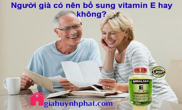 Những lợi ích của Vitamin E dành cho người già