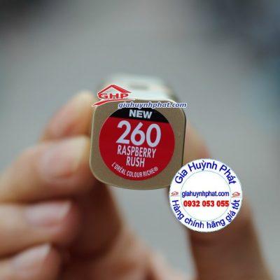 Son môi Loreal #260 Raspberry Rush hàng mỹ xách tay giahuynhphat.com