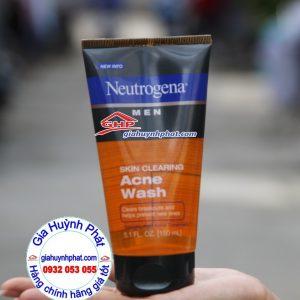 Sữa rửa mặt nam gel ngừa mụn trứng cá Neutrogena Men hàng mỹ xách tay giahuynhphat.com