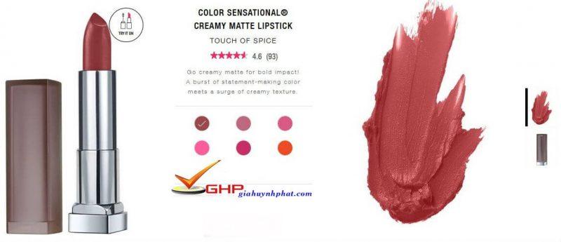 Thỏi son kem lì Maybelline Color Sensational® Creamy Matte #660 chính hãng giá tốt