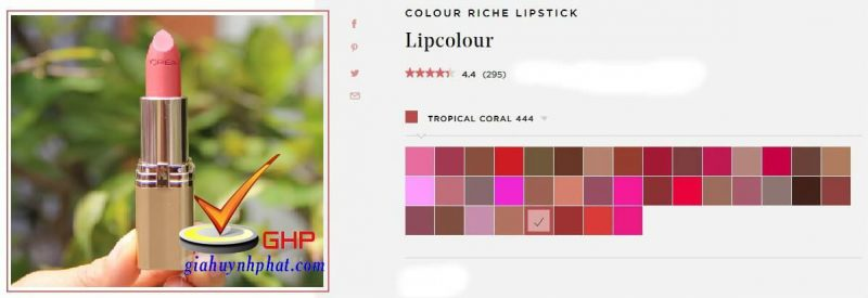Thỏi son Loreal xách tay đẹp Colour Riche Tropical Coral chính hãng giá rẻ của mỹ