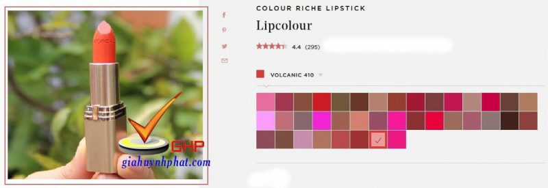 Thỏi son Loreal đẹp chính hãng Colour Riche Volcanic giá rẻ