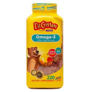 Thực phẩm chức năng kẹo bổ sung Omega 3 DHA L'il Critters Gummy của Mỹ