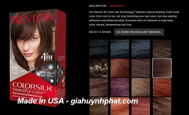Thuốc nhuộm dưỡng tóc Revlon Colorsilk 32 chính hãng màu nâu gỗ chính hãng