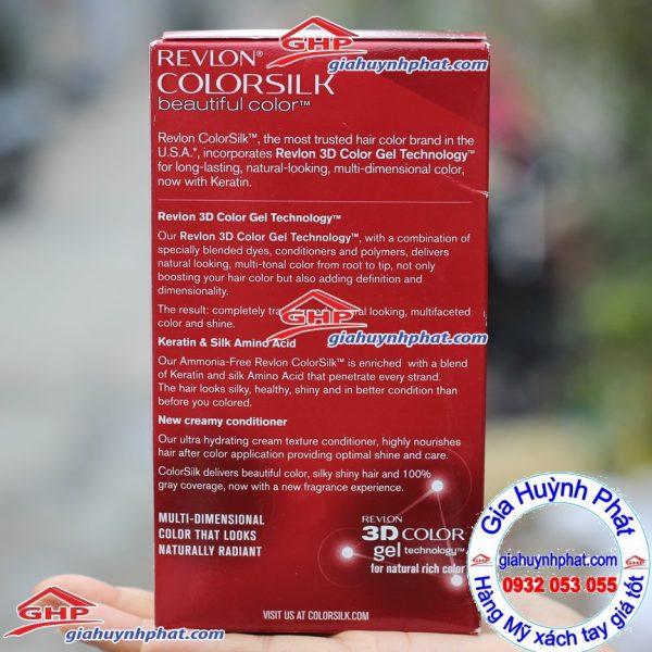 Thuốc nhuộm tóc Revlon colorsilk 49 hàng Mỹ xách tay giahuynhphat.com