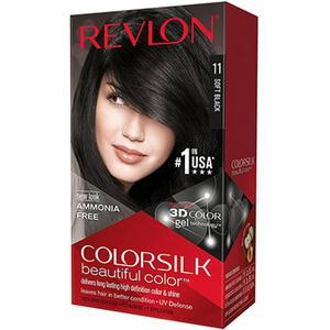 Thuốc nhuộm tóc màu đen Revlon Colorsilk Soft Black # 11
