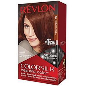 Thuốc nhuộm tóc của Mỹ Revlon 3D Colorsilk 31 Dark Auburn