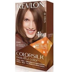 Thuốc nhuộm tóc màu nâu sáng Revelon 3D Colorsilk 51 Light Brown