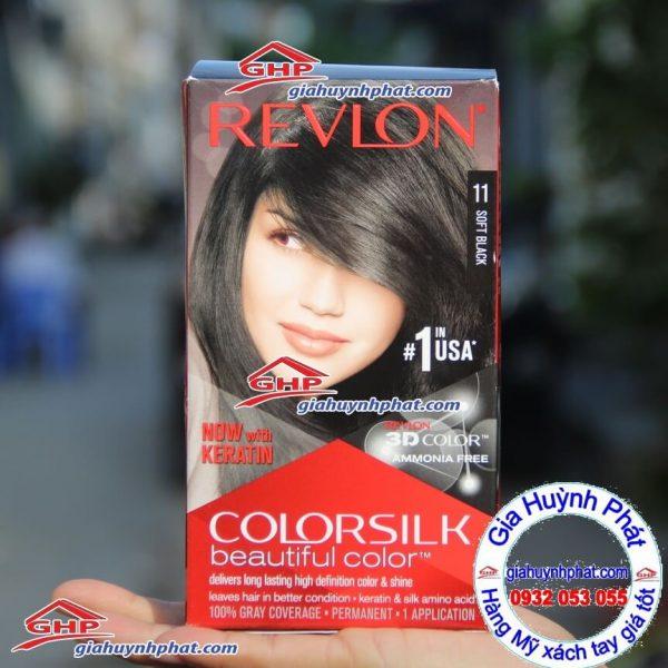 Thuốc nhuộm tóc Revlon 11 Softblack hàng Mỹ xách tay giahuynhphat.com