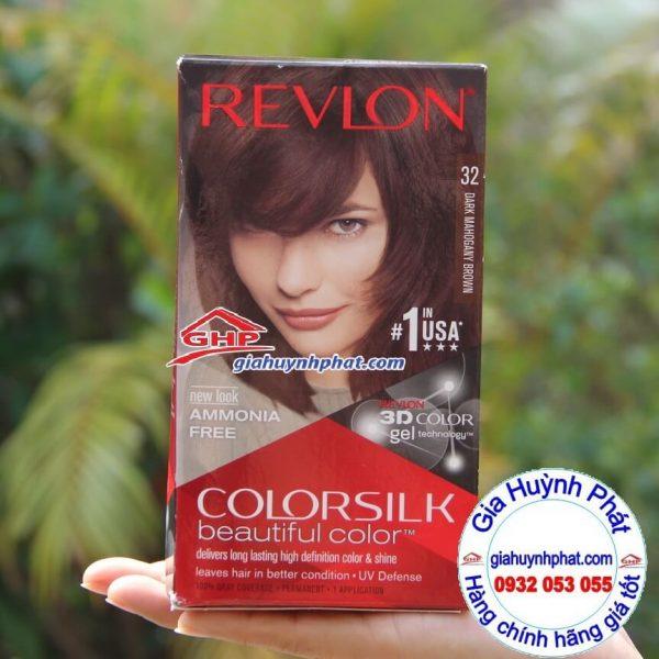 Thuốc nhuộm tóc Revlon colorsilk #32 hàng Mỹ xách tay giahuynhphat.com