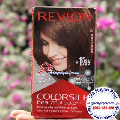 Thuốc nhuộm tóc Revlon colorsilk #47 hàng mỹ xách tay giahuynhphat,com