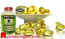 Viên uống bổ sung Vitamin E 400 IU Kirkland Signature 500v hàng mỹ xách tay