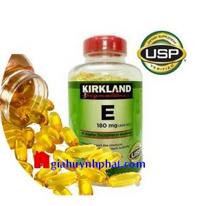 Viên uống bổ sung Vitamin E 400 IU Kirkland Signature 500v của Mỹ giá tốt