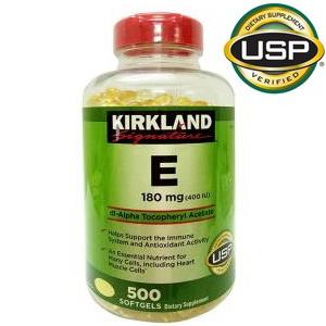 Viên uống bổ sung Vitamin E 400 IU Kirkland Signature 500v của Mỹ