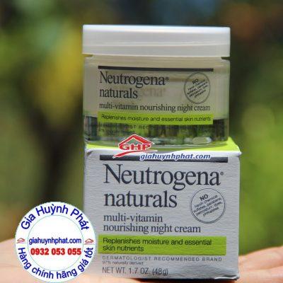 Kem dưỡng ẩm da ban đêm Neutrogena Naturals Multi-Vitamin xách tay mỹ