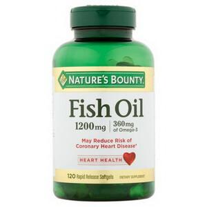 Dầu cá Omega 3 của Mỹ Fish Oil Nature Bounty 120v tốt cho sức khỏe