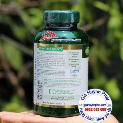 Thành phần Dầu cá bổ sung Omega 3 Fish Oil Nature Bounty 120v hàng xách tay từ Mỹ giahuynhphat.com giahuynhphat.com