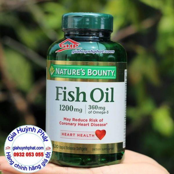 Dầu cá bổ sung Omega 3 Fish Oil Nature Bounty 120v hàng xách tay từ Mỹ giahuynhphat.com