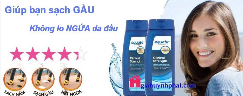 Dầu gội trị gàu ngứa da đầu hiệu quả Equate Clinical Strength của Mỹ giahuynhphat.com 4