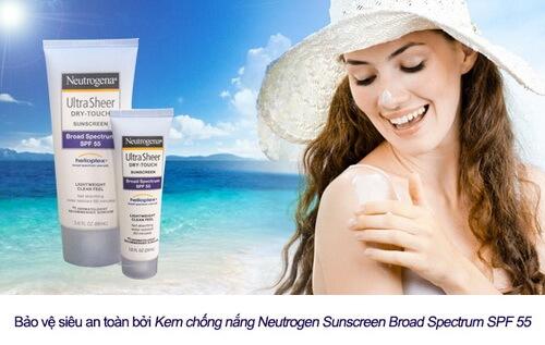 Kem chống nắng toàn thân Neutrogena Ultra Sheer Dry-Touch SPF 55 giahuynhphat.com 5
