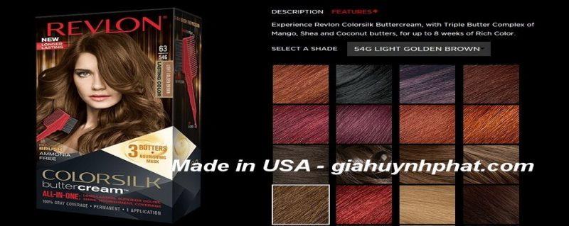 Kem nhuộm tóc cao cấp Revlon Luxurious ColorSilk Buttercream #63 giahuynhphat.com