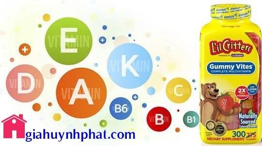Kẹo dẻo gấu Mỹ cung cấp Multi Vitamin L'il Critters Gummy Vites 200v chính hãng giahuynhphat.com