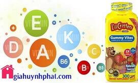 Kẹo dẻo gấu Mỹ cung cấp Multi Vitamin L'il Critters Gummy Vites 200v chính hãng giahuynhphat.com 3