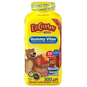 Kẹo dẻo gấu Mỹ cung cấp Multi Vitamin L'il Critters Gummy Vites 200v