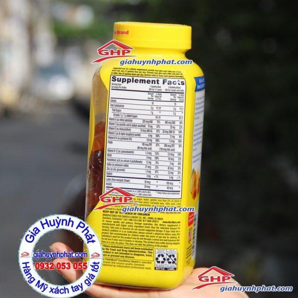 Thành phần kẹo gấu gummy vites hàng Mỹ xách tay giahuynhphat.com