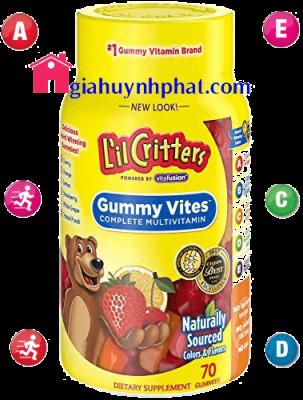 Kẹo gấu Vitamin của mỹ L'il Critters Gummy Vites 70 viên giahuynhphat.com