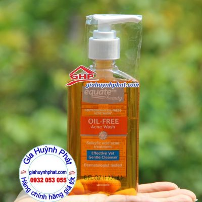 Sữa rửa mặt dạng gel Equate oil free acne wash dành cho da mụn giahuynhphat.com