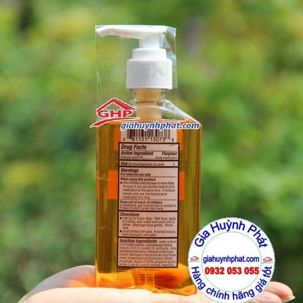 Thành phần sữa rửa mặt dạng gel Equate oil free acne wash dành cho da mụn giahuynhphat.com
