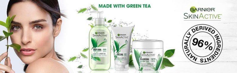 Sữa rửa mặt trà xanh tẩy tế bào chết Garnier SkinActive Deep Pore của Mỹ giahuynhphat.com
