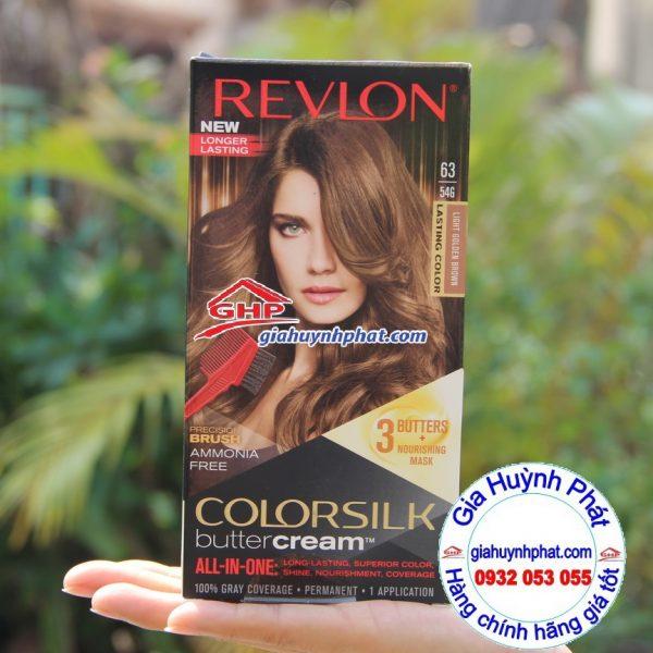 Thuốc nhuộm tóc Revlon color silk #63 hàng mỹ xách tay www.giahuynhphat.com