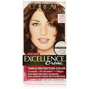 Thuốc nhuộm tóc Loreal màu nâu ánh đỏ Excellence Creme của Mỹ