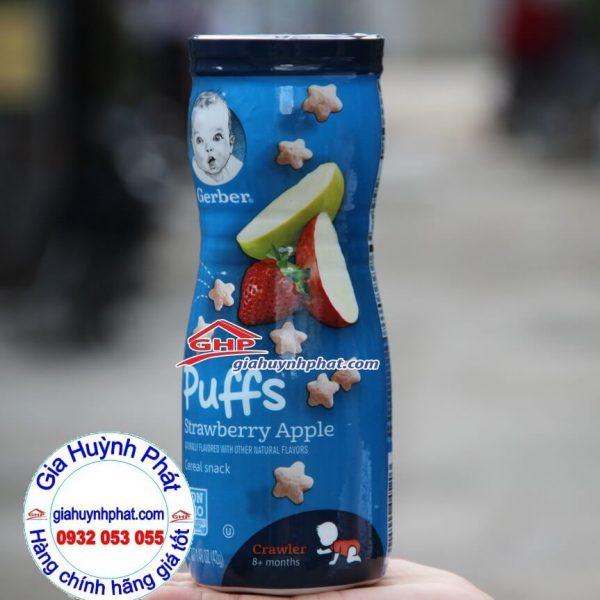 Bánh ăn dặm hương trái cây táo dâu tây Gerber Strawberry Apple giahuynhphat.com
