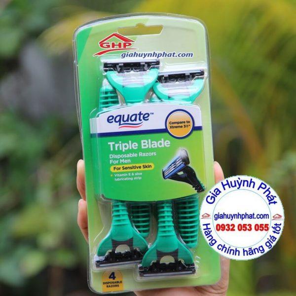 Vỉ dao cạo râu dành cho nam 3 lưỡi Equate Triple Blade của Mỹ giahuynhphat.com