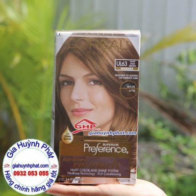 Kem thuốc nhuộm tóc cao cấp Loreal Superior Preference #UL63 hàng xách tay mỹ giahuynhphat.com